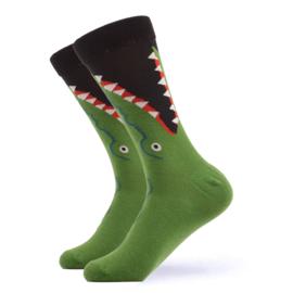 Vrolijke Sokken Krokodil Maat 36-40