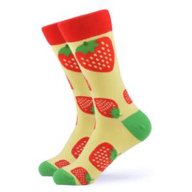 Vrolijke Sokken Aardbei Maat 36-40