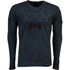 Longsleeve Shirt Canadian Peak Jawn Heren Navy