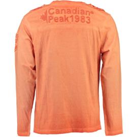 Longsleeve Shirt Canadian Peak James Heren Coral (alleen maat M )