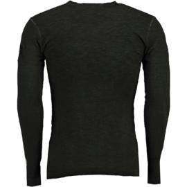 Longsleeve Shirt Canadian Peak Jawn Heren Black (alleen nog maat M)
