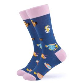 Vrolijke Sokken Zeedieren Maat 36-40