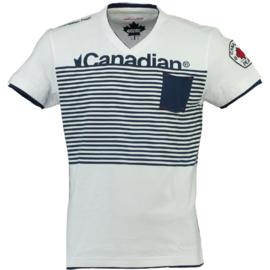 T-shirt Canadian Peak Jerem Heren White-Navy