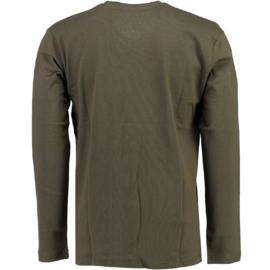 Longsleeve Shirt Canadian Peak Jamilton Heren Kaki (alleen maat M)