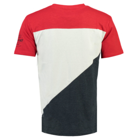T-shirt Geographical Norway Jriche Heren Red-White