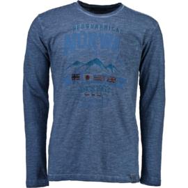 Longsleeve Shirt Geographical Norway Josstone Heren Blue