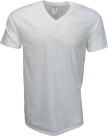 T-shirt Gildan V-Hals Wit