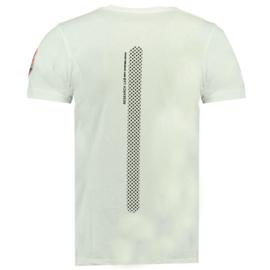 T-shirt Canadian Peak India Heren Blanc-Noir