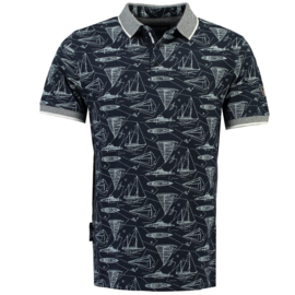 Polo Geographical Norway Krake Heren Navy (alleen nog maat M en XL)