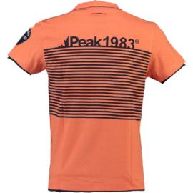 T-shirt Canadian Peak Jerem Heren Coral-Navy
