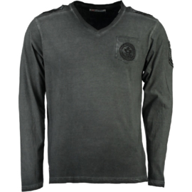 Longsleeve Shirt Canadian Peak James Heren Black
