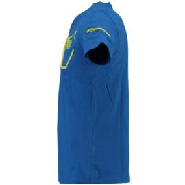 T-shirt Canadian Peak Jingo Heren Bleu Royale Jaune Flash