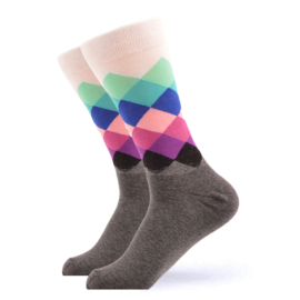Vrolijke Sokken Ruit Maat 36-40