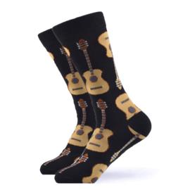 Vrolijke Sokken Gitaar Maat 41-46
