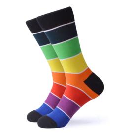Vrolijke Sokken Regenboog Maat 36-40