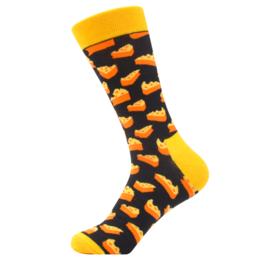 Vrolijke Sokken Kaas  Maat 41-46