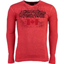 Longsleeve Shirt Canadian Peak Jawn Heren Red
