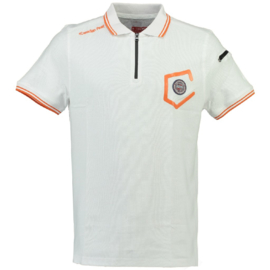 Polo Canadian Peak Kingo Heren Royale White Flashy Orange