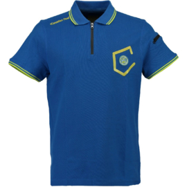 Polo Canadian Peak Kingo Heren Royale Blue Flashy Yellow (Alleen nog maat M en L)