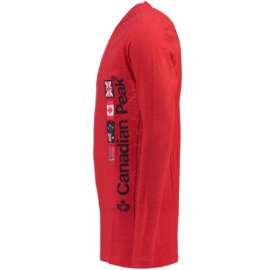 Longsleeve Shirt Canadian Peak Jazzmen Heren Red (alleen nog in maat S)