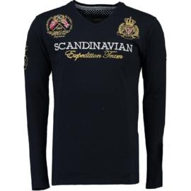 Longsleeve Shirt Geographical Norway Jevin Heren Navy