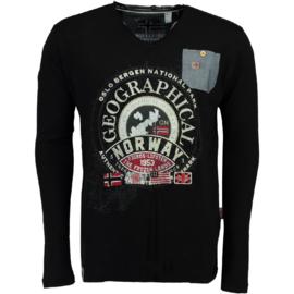 Longsleeve Shirt Geographical Norway Jignac Heren Black