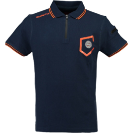 Polo Canadian Peak Kingo Heren Navy Fluo Orange