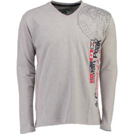 Longsleeve Shirt Canadian Peak Jazzmen Heren Blended Grey