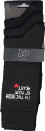 3-Pack Twinday Sokken Met Leuke Teksten