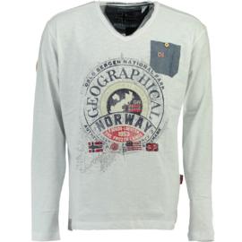 Longsleeve Shirt Geographical Norway Jignac Heren White