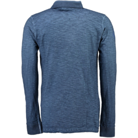Longsleeve Polo Geographical Norway Kosstone Heren Blue