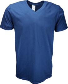 T-shirt Gildan V-Hals Navy