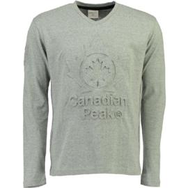 Longsleeve Shirt Canadian Peak Journa Heren Blended Grey