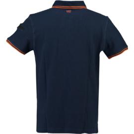 Polo Canadian Peak Kingo Heren Navy Fluo Orange