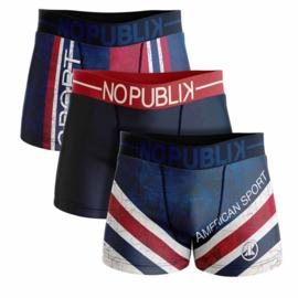 3-Pack No Publik Boxershorts American sport