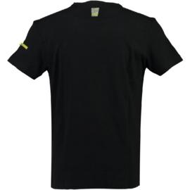 T-shirt Canadian Peak Jingo Heren Noir Jaune Fluo