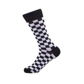 Vrolijke Sokken Zwart/Witje Maat 41-46