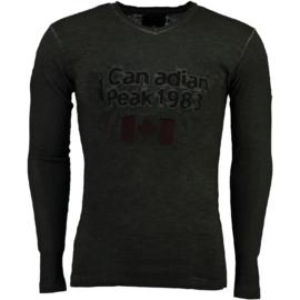 Longsleeve Shirt Canadian Peak Jawn Heren Black