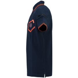 Polo Canadian Peak Kingo Heren Navy Fluo Orange met gratis 3-pack boxershorts