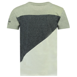 T-shirt Geographical Norway Jriche Heren Blended Grey-Blue