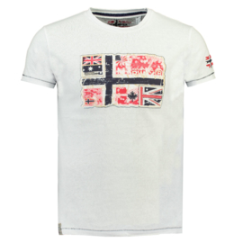 T-shirt Geographical Norway Jpepe Heren White met gratis 3-pack boxershorts