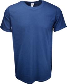 T-shirt Gildan Ronde Hals Donker Blauw