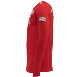 Longsleeve Shirt Geographical Norway Jisac Heren Red
