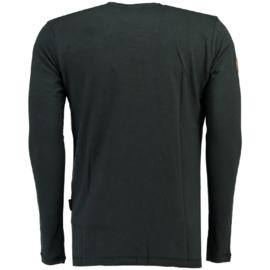 Longsleeve Shirt Geographical Norway Jignac Heren Dark Grey