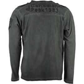 Longsleeve Shirt Canadian Peak James Heren Black (alleen maat M)