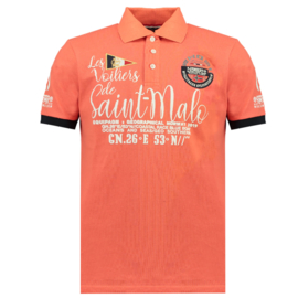 Polo Geographical Norway Kalo Heren Coral (alleen nog in maat XL)