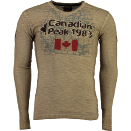 Longsleeve Shirt Canadian Peak Jawn Heren Blended Grey