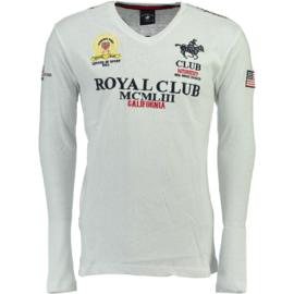 Longsleeve Shirt Geographical Norway Jisac Heren White