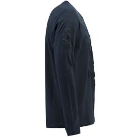 Longsleeve Shirt Canadian Peak Journa Heren Navy (alleen nog maat S en M)