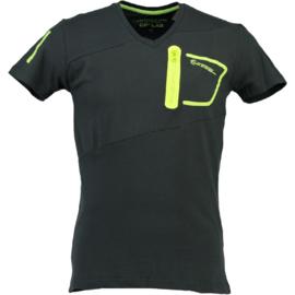 T-shirt Canadian Peak India Heren Gris Fonce Jaune Neon (alleen nog maat L)